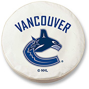 Vancouver Canucks White Tire Cover-TCLGVANCANWT