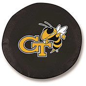 Georgia Tech Black Tire Cover-TCSMGATECHBK