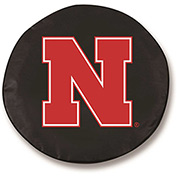 University of Nebraska Black Tire Cover-TCSMNEBRUNBK