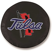 University of Tulsa Black Tire Cover-TCSMTULSAUBK