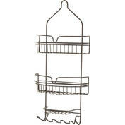 """Honey Can Do Oil Rubbed Bronze Shower Caddy, 11""""L x 4-1/4""""W x 24-1/2""""H - BTH-03299"""