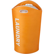 "Foam Laundry Tote 23-5/8""L x 14-9/16""W x 26-3/4""H, Orange"