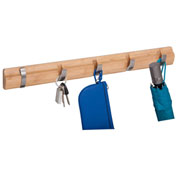 Honey-Can-Do 5 Hook Wooden Wall Hanger - Bamboo - Natural