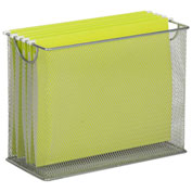 Honey-Can-Do Table Top Steel Mesh File Holder - Gray
