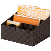 Honey-Can-Do Woven Mail and File Desk Organizer - Espresso