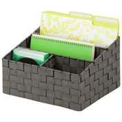 Honey-Can-Do Woven Mail and File Desk Organizer - Salt and Pepper