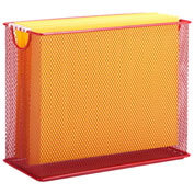Honey-Can-Do Table Top Steel Mesh File Holder - Red