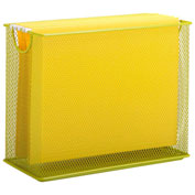 Honey-Can-Do Table Top Steel Mesh File Holder - Lime