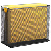 Honey-Can-Do Table Top Steel Mesh File Holder - Black