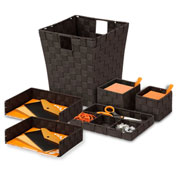 Honey-Can-Do Woven Desk Organization Set - Espresso