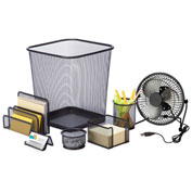 Honey-Can-Do Desk Essentials Steel Mesh Organization Set - Black