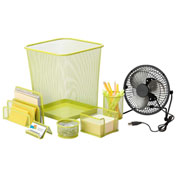 Honey-Can-Do Desk Essentials Steel Mesh Organization Set - Lime