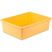 "Large Plastic Bin 16-1/4""L x 11-3/4""W x 5""H, Yellow"