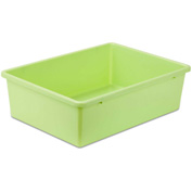 "Large Plastic Bin 16-1/4""L x 11-3/4""W x 5""H, Light Green"