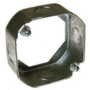 "Hubbell 128 Octagon Extension 4"", 1-1/2"" Deep, 1/2"" Side Knockouts - Pkg Qty 25"