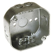 "Hubbell 146 Octagon Box 4"", 1-1/2"" Deep, 1/2"" Side Knockouts, Side Holes, Nmsc Clamps - Pkg Qty 50"