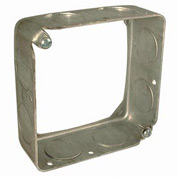 """Hubbell 202 Square Extension 4"""", 1-1/2"""" Deep, 3/4"""" Side Knockouts - Pkg Qty 50"""