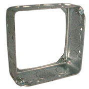 "Hubbell 204 Square Extension 4"", 1-1/2"" Deep, 1/2"" & 3/4"" Side Knockouts, Thru-Wall-Box - Pkg Qty 50"