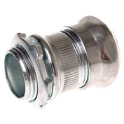 """Hubbell 2908rt Emt Compression Connector Raintight 2"""" Trade Size - Steel - Pkg Qty 10"""