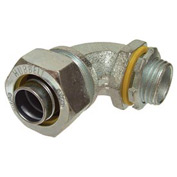 "Hubbell 3421 90 Degree Liquidtight Connector 3/8"" Trade Size - Pkg Qty 100"