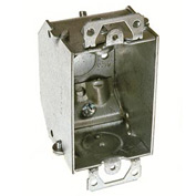 "Hubbell 471 Switch Bx 3""X2"", 2-1/4""D, Gngable, Nmsc Clamp, Beveled Corners,W/Plaster Ear - Pkg Qty 50"