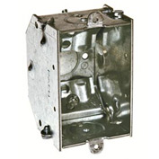 "Hubbell 473 Switch Box 3""X2"", 2-1/4"" Deep, Gangable, Nmsc Clamps, Beveled Corners - Pkg Qty 20"