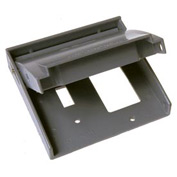 Hubbell 5043-0 Rayntite Two Gang Weatherproof Cover - (1) Toggle & (1) Gfci - Pkg Qty 6
