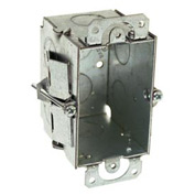 """Hubbell 506 Switch Box 3""""X2"""", 2-1/2"""" Deep, Gangable, 1/2"""" End Knockouts, Old Work Clips - Pkg Qty 20"""