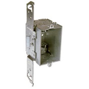 "Hubbell 524 Switch Box 3""X2"", 2-1/2""D, Gangable, Mc/Bx Clamps, Stud Bracket - Pkg Qty 50"