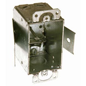 "Hubbell 526 Switch Box 3""X2"", 2-1/2"" Deep, Non-Gangable, Mc/Bx Clamps, Old Work Clip - Pkg Qty 20"