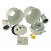 Hubbell 5876-6 Round Box Architectural Lite Kit White - Pkg Qty 4