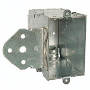 "Hubbell 603 Switch Box 3""X2"", 3-1/2"" Deep, Gangable, Nmsc Clamps, Stud Bracket - Pkg Qty 25"