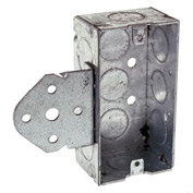 "Hubbell 655 Handy Box 4""X2"", 1-1/2"" Deep, 1/2"" End Knockouts, Stud Bracket, Welded - Pkg Qty 50"