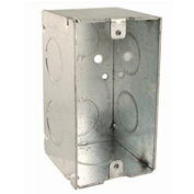 """Hubbell 674 Handy Box 4""""X2"""", 2-1/8"""" Deep, 3/4"""" End Knockouts, Welded - Pkg Qty 50"""