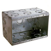 "Hubbell 697 Masonry Box, 3 Device, Non-Gangable, 3-1/2"" Deep, 1/2"" & 3/4"" End Knockouts - Pkg Qty 10"