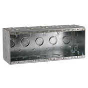 "Hubbell 699 Masonry Box, 5 Device, Non-Gangable, 3-1/2"" Deep, 1/2"" & 3/4"" End Knockouts - Pkg Qty 10"
