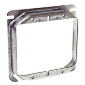 "Hubbell 769 4"" Square Mud-Ring, For 2 Devices, Raised 5/8"" - Pkg Qty 50"