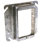 "Hubbell 771 4"" Square Mud-Ring, For 1 Device, Raised 1/4"" - Pkg Qty 100"