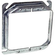"Hubbell 780 4"" Square Mud-Ring, For 2 Devices, Raised 1"" - Pkg Qty 25"