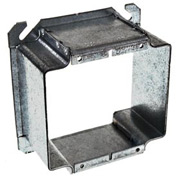 "Hubbell 796 4"" Square Mud-Ring, For 2 Devices, Raised 2"", For Tile - Pkg Qty 25"