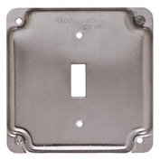 "Hubbell 800c 4"" Square Exposed Work Cover, 1 Toggle - Pkg Qty 10"