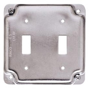 "Hubbell 803c 4"" Square Exposed Work Cover, 2 Toggles - Pkg Qty 10"
