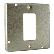 """Hubbell 808 4"""" Square Exposed Work Cover, 1 Gfci - Pkg Qty 10"""