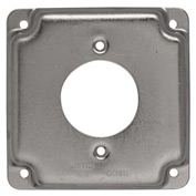 "Hubbell 811c 4"" Square Exposed Work Cover, 30a Twist-Lock 1.719"" Diameter - Pkg Qty 10"