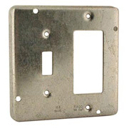 "Hubbell 814 4"" Square Exposed Work Cover, 1 Toggle & 1 Gfci - Pkg Qty 10"