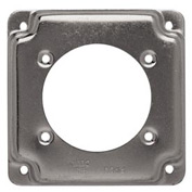 "Hubbell 816c Square Exposed Work Cover 4"", One Receptacle 2.480 Diam. Hole - Pkg Qty 10"
