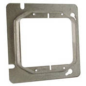 "Hubbell 819 4-11/16"" Square Mud-Ring, For 2 Devices, Raised 1"" - Pkg Qty 25"