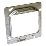 "Hubbell 841 4-11/16"" Square Mud-Ring, For 2 Devices, Raised 1/2"" - Pkg Qty 25"
