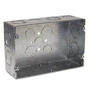 "Hubbell 941 Gang Box, 2 Device, 2-1/2"" Deep - Pkg Qty 5"