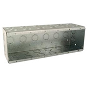 "Hubbell 965 Masonry Box, 6 Device, Non-gangable, 3-1/2"" Deep, 1/2"" & 3/4"" Knockouts"